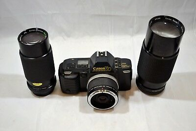 Canon T70 35mm SLR Film Camera with Lenses ##BRIc4jw