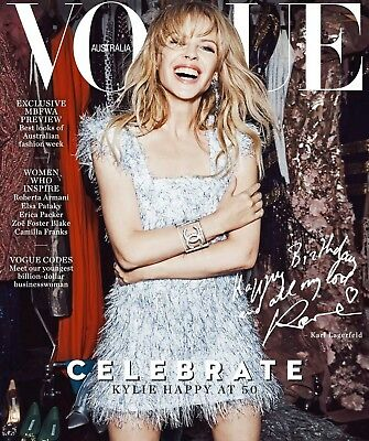 Kylie minogue Vogue May 2018 Australia Australian Issue RARE