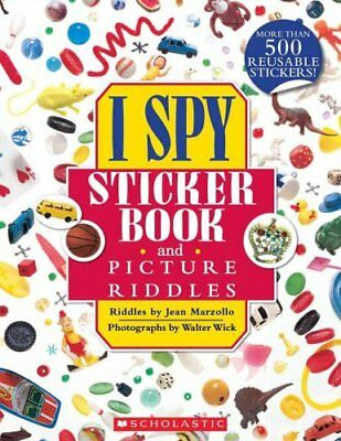 I Spy Sticker Book and Picture Riddles by Jean Marzollo 9780545390743