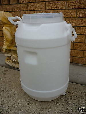 60 Litre Plastic Heavy Duty Drum Container / Home Brewing Fermenter Beer Wine