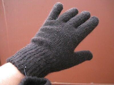 Men/'s GLOVES RIBBED 100/% natural GOAT DOWN yarn HOMEKNITTED Russian craft soft