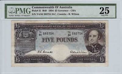 1954 Coombs & Wilson 5 Pound - PMG VF25