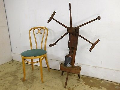 Country Colonial Antique Farm Made c1860 Primitive Sewing Tool Yarn Spool Winder