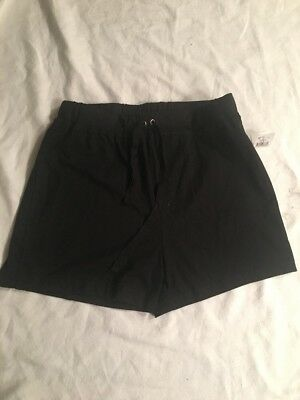 New Women's Oh Baby By Motherhood Maternity Black Shorts Size Small