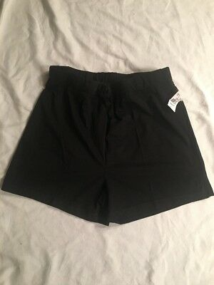 New Women's Oh Baby By Motherhood Maternity Black Shorts Size Large