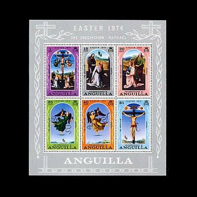 Anguilla Sc #192a, MNH, 1974, S/S, Easter, Crucifixtion, Raphael, CL112F