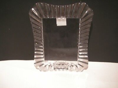 Marquis Waterford Crystal Glass Easton Pattern Large Picture Frame