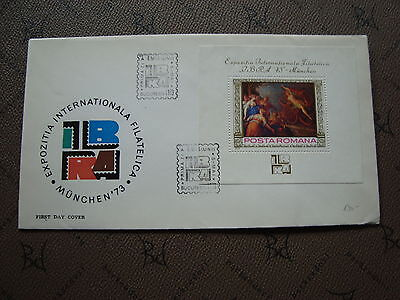 ROMANIA envelope 5/5/73 -stamp Yvert and Tellier bloc n°105 (cy2)