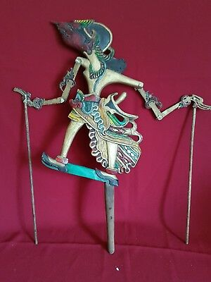 vintage indonesian stick shadow puppet