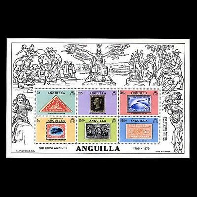 Anguilla Sc #354a, MNH, 1979, S/S, Stamps on Stamps, Rowland Hill, CL112F