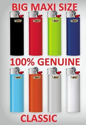 4 X J26 Bic Large Maxi Disposable Gas Lighter Tobacco Cigarette Cigar Zippo Gil