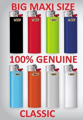 8 X J26 Bic Large Maxi Disposable Gas Lighter Tobacco Cigarette Cigar Zippo Gil