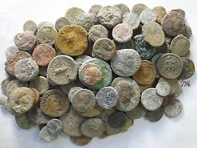 Lot of 100 Low Quality Uncleaned Ancient Roman & Greek Coins; 284.6 Grams!!