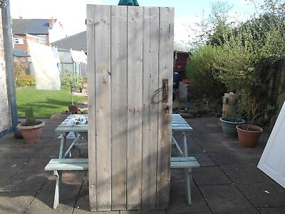 Beautiful Rustic Old Door  <>Look<> Shed/toilet ?