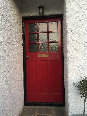Vintage Edwardian Wooden Front Door
