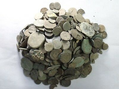 Lot of 1000 Grams - Uncleaned Ancient Roman, Greek & Other CULL/ Chipped Coins