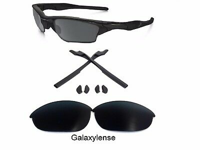4c72ca1c78 Galaxy Replacement Lenses + Rubber Kits For Oakley Half Jacket 2.0 Black