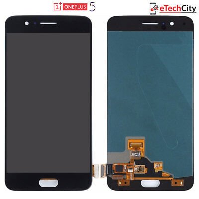 For OnePlus 5 Original Lcd Display Screen Touch Digitizer Lens Glass Black A5000