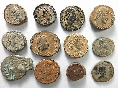 Lot of 12 Quality Ancient Roman Coins - Desert Patina; Arcadius...; 21.9 Grams!