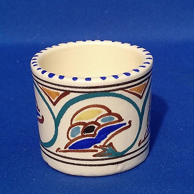 Honiton Pottery Egg Cup  - Vintage 1950s Hand Painted Devon Ware -  VGC