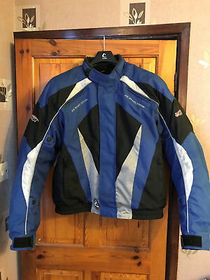 Mens Motorcycle Jacket Size XXL blue/black