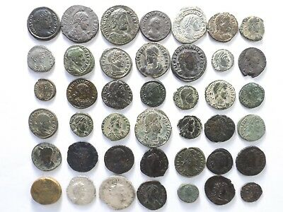 Lot of 42 Higher Quality Ancient Roman Coins; Mostly Constantinian; 105.1 Grams!