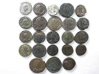 Lot of 23 Higher Quality Ancient Roman Coins; Mostly Constantinian; 60.0 Grams!