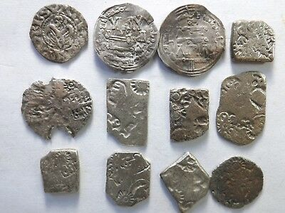 Lot of 12 Various Quality Ancient Silver Coins; 25.7 Grams!