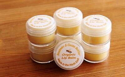 Organic Shea and Cocoa Butter Lip Balm. Gorgeous gift, party or wedding favour