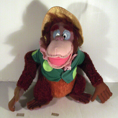 """10"""" King Louie Monkey In Yellow Hat + Green Coat - The Jungle Book Soft Toy"""