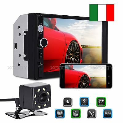 "7"" Autoradio Stereo Mp5 Lettore Radio 2Din Fm Usb Aux Bluetooth Mp3 Telecamera"