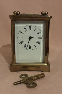 19th Century 8 Day Brass Carriage Clock (working)
