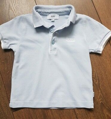 HUGO BOSS Baby Blue Polo 12 Months