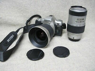 Pentax Zx-7 35Mm Camera,28-20 Lense & Pentax 80-320 Lense & Strap Used Condition