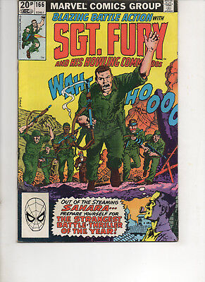 Sgt. Fury And His Howling Commandos 166 Very Fine 1981 Marvel Bronze Age Comic