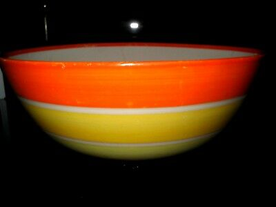 Huge Susie Cooper Grays Art Deco Pottery Banded Bowl