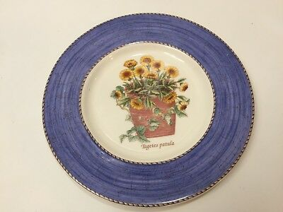 Wedgwood Sarah's Garden Floral Flower Tagetes Patula Queen's Ware Salad Plate