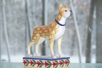 QUILT FAWN BOXER DOG  Lady by Jim Shore HEARTWOOD CREEK FIGURINE