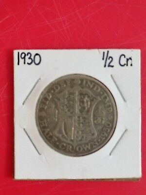 Great Britain, Silver Coin, Half Crown, 1930, KM# 835, Low Mintage!!!!