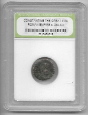 Rare Old Ancient Antique CONSTANTINE GREAT Roman Empire Era War Coin LOT:US-201