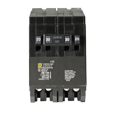 Square D Homeline CSED 30-Amp 2-Pole 120/240 Quad Tandem Circuit Breaker, NEW!