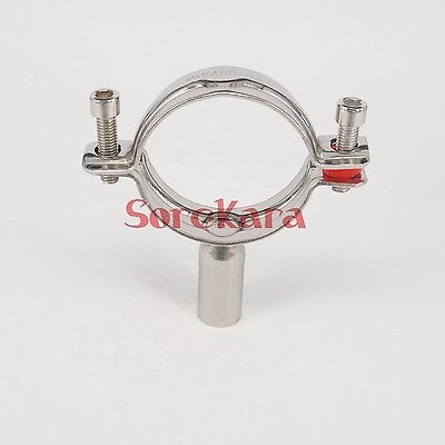 12.7mm 304 Stainless Steel Sanitary Pipe Clamp Clips Support Tube bracket