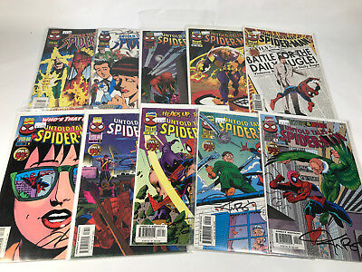 Untold Tales of Spider-Man 11-20 All Signed Kurt Busiek Lot of 10