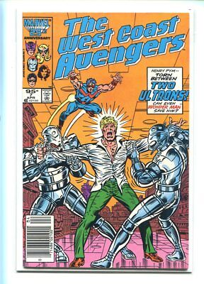 West Coast Avengers #7 Nm 9.4 Canadian Price Variant Classic Ultron Cover