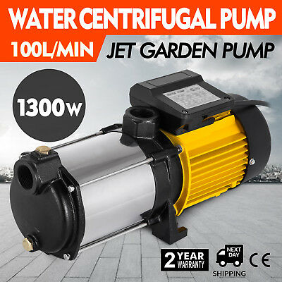 1300W centrifugal booster water Pump multistage Pipeline Drainage  Home Pond