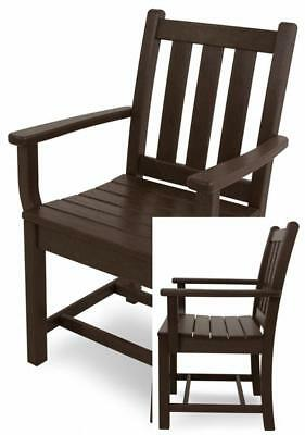 POLY-WOOD TGD200MA Traditional Garden Dining Arm Chair, Mahogany