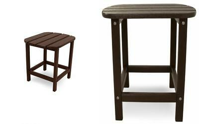 POLY-WOOD Outdoor Furniture 15 -Inch Side Table, Mahogany-Recycled Plastic...