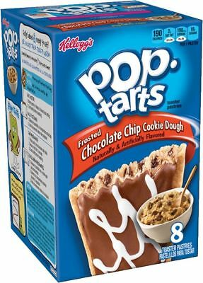 USA POP TARTS FROSTED CHOCOLATE CHIP COOKIE DOUGH TOASTER PASTRIES 400g 8 PACK