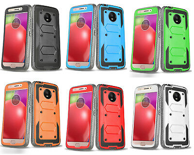 Motorola Moto G5/E4/Plus Armor Shockproof Otterbox Styled Hybrid Drop Case Cover