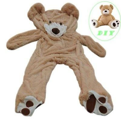 160Cm Huge Giant Plush Brown Teddy Bear Big Stuffed Animal Soft Cotton Toy Gift